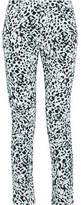 Pierre Balmain Leopard-Print Mid-Rise Slim-Leg Jeans