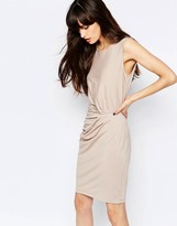 Selected Ganna Ruched Detail Body-Conscious Dress