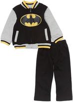 Children's Apparel Network Batman Zip Jacket & Black Sweatpants - Toddler