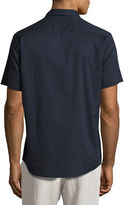 Vince Reverse-Placket Short-Sleeve Shirt