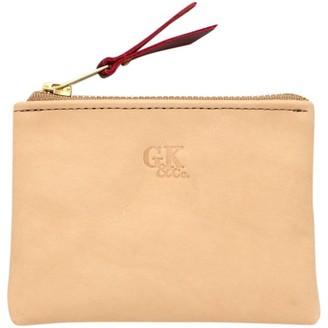 General Knot & Co Blond Leather Zipper Wallet