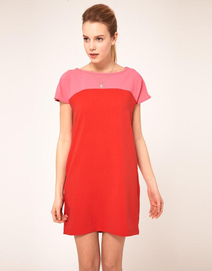 Vila Color Block Tunic Dress