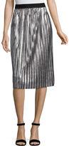 PROJECT RUNWAY Project Runway Metallic Pleated Skirt