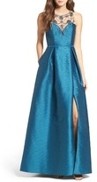 Adrianna Papell Women's Beaded Bodice Gown