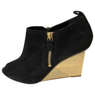Nicholas Kirkwood Black Suede Boots