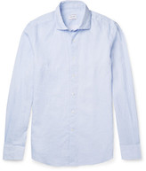 Incotex Micro-Checked Linen and Cotton-Blend Shirt