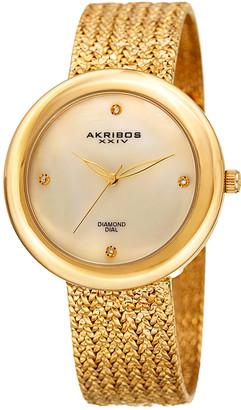 Akribos XXIV Women's Brass Diamond Watch