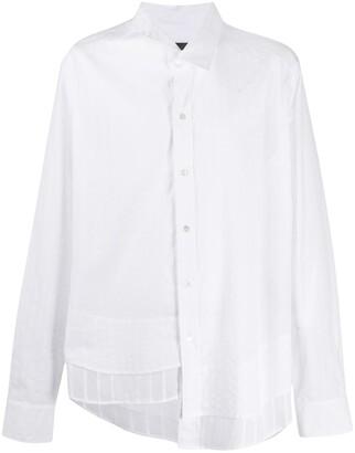Ann Demeulemeester Asymmetric Layered-Hem Shirt