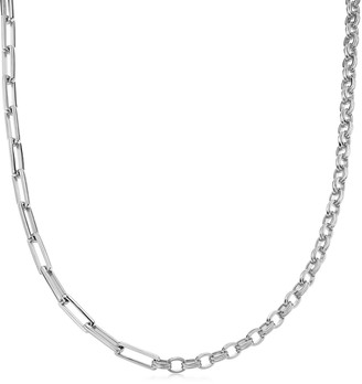 Missoma Limited Silver Deconstructed Axiom Chain Necklace