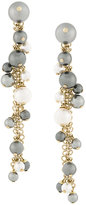 Lanvin glass pearl dangle earrings