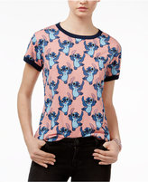 Mighty Fine Juniors' Dancing Stitch Graphic T-Shirt