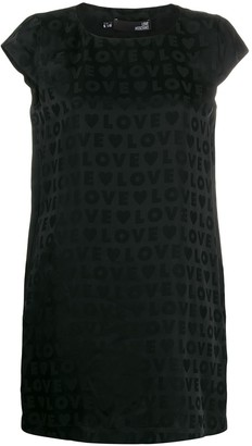 Love Moschino Satin-Jacquard Mini Dress