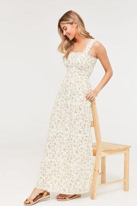 Ardene Smocked Floral Maxi Dress