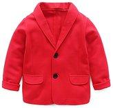 REWANGOING Baby Kid Little Boy Casual Fashion Blazers Jackets Coat Suit Outerwear Grey