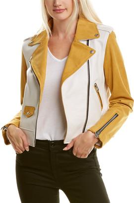 Mackage Baya Leather Moto Jacket