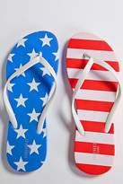 Forever 21 American Print Flip Flops