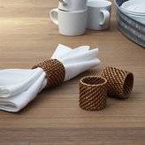 Crate & Barrel Artesia Honey Rattan Napkin Ring