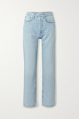 A Gold E Agolde '90s Distressed Mid-rise Straight-leg Jeans