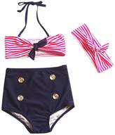 Bay Girl Summer Swimwear, Finerolls Aged 3-8 Summer Swimsuit Tankini Set Toddler,Little Kids,Big Kids