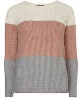 Dorothy Perkins Womens Block Stripe Jumper- Pink