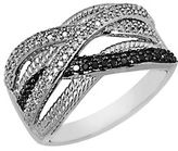 Lord & Taylor Black and White Diamond Ring in Sterling Silver 0.38 ct. t.w.