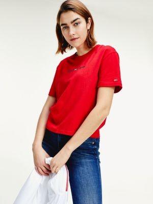 Tommy Hilfiger Modern Logo Cropped Fit T-Shirt