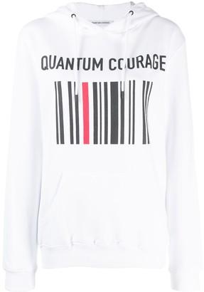 Quantum Courage Logo Print Hoodie