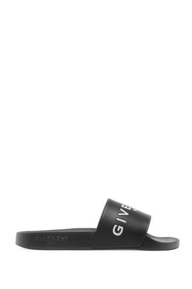 Givenchy Printed Rubber Slides - Black
