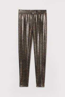 H&M Shimmering Leggings - Black
