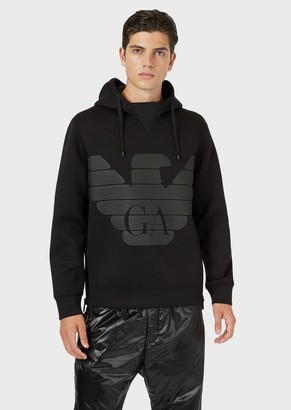 Emporio Armani R-Ea-Mix Sweatshirt In Scuba Fabric With Reflective Inserts
