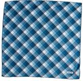 Tom Ford Plaid Silk Pocket Square