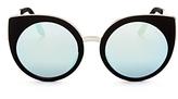 Quay Last Dance Rounded Cat Eye Sunglasses, 53mm