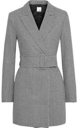 Iris & Ink Cindy Checked Wool-blend Blazer