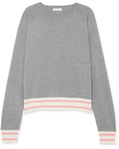 Equipment Axel Striped Cotton-blend Sweater