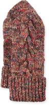 Il Borgo Braided-Trim Cashmere Mittens, Multicolor