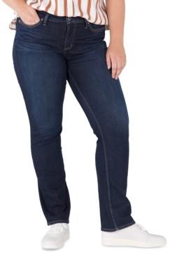 Silver Jeans Co. Plus Size Suki Mid-Rise Straight-Leg Jeans