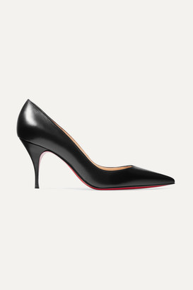 Christian Louboutin Clare 80 Leather Pumps - Black