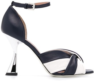 Pollini Two Tone High Heel Sandals
