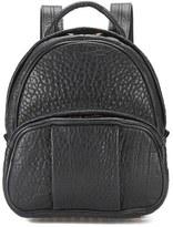 Alexander Wang Women's Dumbo Pebble Leather Backpack Black/Rose Gold Hardware