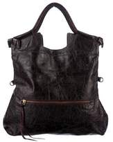 Foley + Corinna Distressed Leather Fold-Over Tote Bag