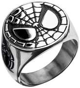 Spiderman Men's Marvel Stainless Steel Engraved Face Ring