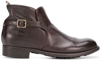 Officine Creative Zip Buckle Ankle Boots