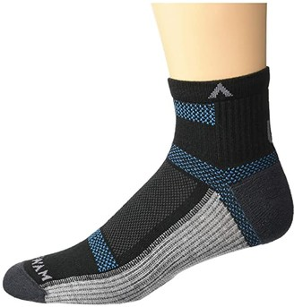 Wigwam Ultra Cool-Lite Quarter (Black II) Quarter Length Socks Shoes