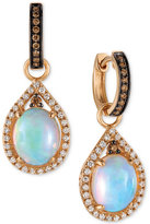 LeVian Le Vian Chocolatier Neopolitan Opal (2-3/8 ct. t.w.) and Diamond (5/8 ct. t.w.) Drop Earrings in 14K Rose Gold