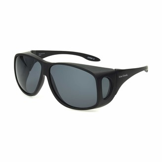 Haven Fits Over Sunwear Solar Shield Fits Over Sunglasses Classic Aviator (XL) Blk/Gry