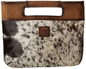 STS Ranchwear Flat Rock Clutch (Cowhide/Tornado Brown) Handbags
