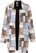 Norma Kamali Reversible patchwork-effect stretch-jersey coat