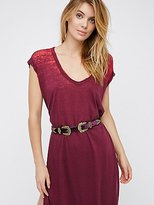 Free People Velvet Western Belt