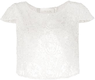 Loulou Sequin-Embellished Lace Top