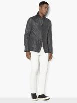 John Varvatos Nylon Grid-Stitched Jacket